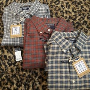 LOT 3 CREMIEUX Slim FIt Stretch Oxford Shirts XL